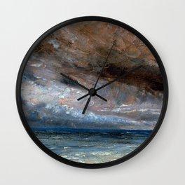 """John Constable """"Stormy Sea, Brighton"""" Wall Clock"""
