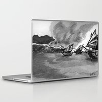 ships Laptop & iPad Skins featuring Ships by spiderdave7