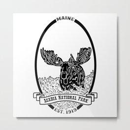 Acadia Emblem Metal Print