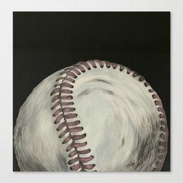 Vintage Baseball Art Canvas Print