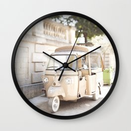 Parisian Tuktuk Wall Clock