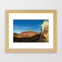 MTB Riding in Utah Framed Art Print