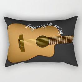 Finger my G string guitar Rectangular Pillow