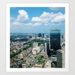 Boston from Above Art Print