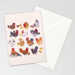 Chicken and Chick Stationery Cards