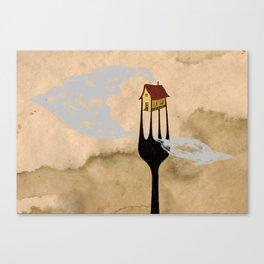 - fork home - Canvas Print