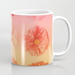 Orange Gradient Flower Grid Coffee Mug