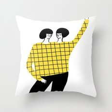 Dancing with myself Throw Pillow