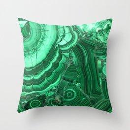Green Agate Surface Throw Pillow