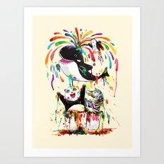 Yay! Whale of a Bath Time! Art Print