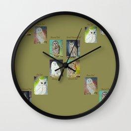 Six Owls Wall Clock