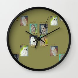 Six Owls Wall Clock