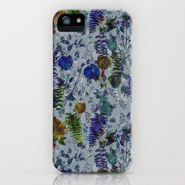 Bleu Foliage iPhone Case