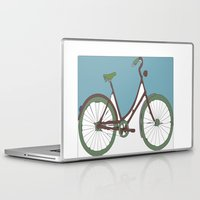 bicycle Laptop & iPad Skins featuring Bicycle by March Hunger