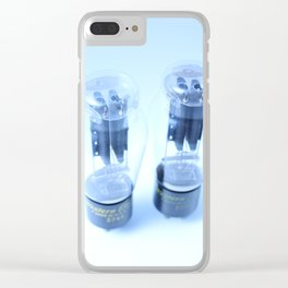 Vacuum Tubes: White Clear iPhone Case