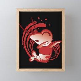 Dabbing Shrimp print I Funny Fish Tank Aquarium Fan Gift Framed Mini Art Print