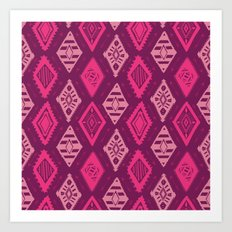 Pink Tribal Print Art Print