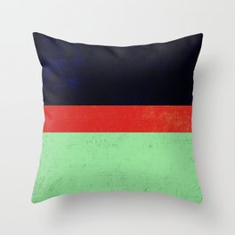 Navy, red and mint design Throw Pillow
