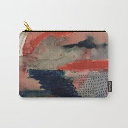 Independent: a red and blue abstract watercolor Carry-All Pouch
