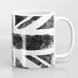 Black Grunge UK Flag Coffee Mug