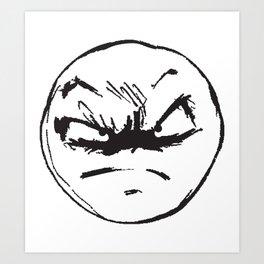 face of weird Art Print