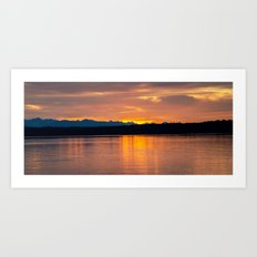SUNSET LAKE Art Print