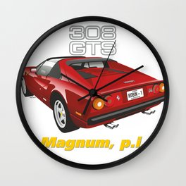 Ferrari 308 GTS from Magnum p.i. Wall Clock