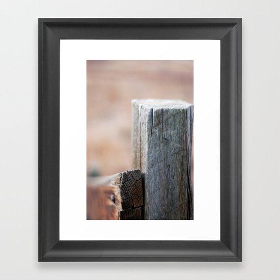 Fence Post III Framed Art Print