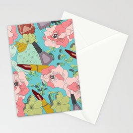 Powder Room in Blue Stationery Cards