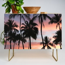 Tropical Palm Trees Sunset in Mexico Credenza