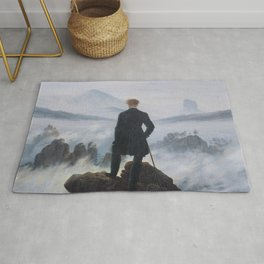 Wanderer above the Sea of Fog - Caspar David Friedrich Rug