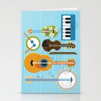 mortal instruments Stationery Cards featuring Simply Instruments by Paige Design, Inc.