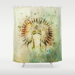 BOHO Headdress Shower Curtain