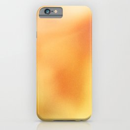 Abstract noise orange iPhone Case