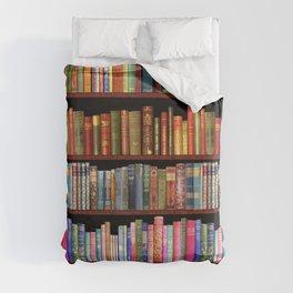 Vintage books ft Jane Austen & more Duvet Cover