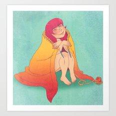 The Joy of Knitting Art Print
