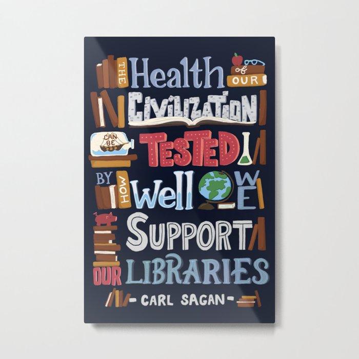Libraries Metal Print