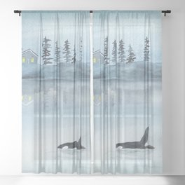 Nature is my home Sheer Curtain