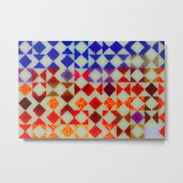 matted geometry impressionism Metal Print