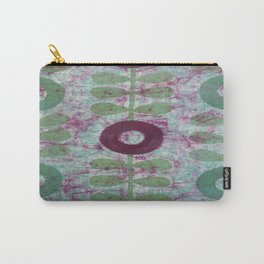 Zinnias in Purple and Green Carry-All Pouch