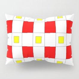 Tribute to mondrian 2- piet,geomtric,geomtrical,abstraction,de  stijl, composition. Pillow Sham