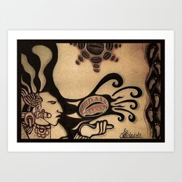 Prehispanic coffee Art Print