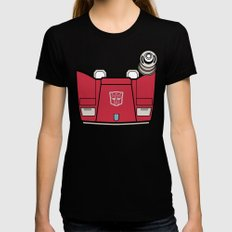 Transformers - Sideswipe MEDIUM Black Womens Fitted Tee