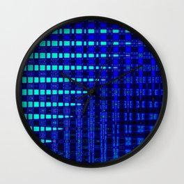 Blue in Shadows Wall Clock