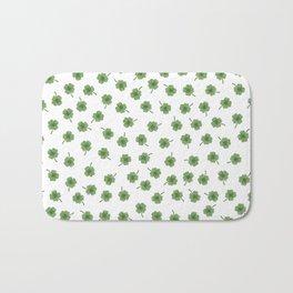 Light Green Clover Bath Mat