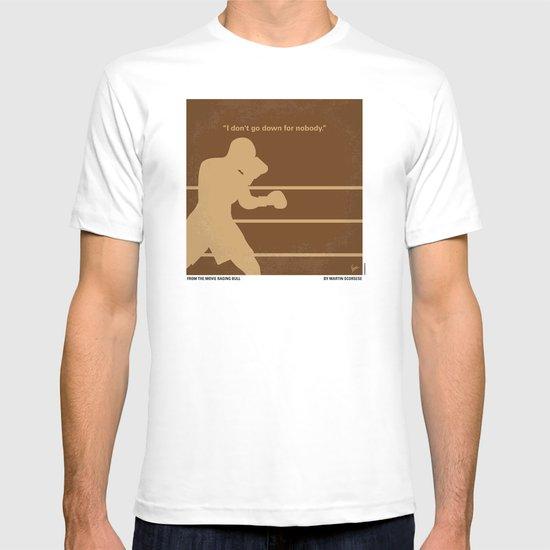 No174 My Raging Bull minimal movie poster T-shirt