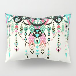 Modern Deco in Pink and Turquoise Pillow Sham