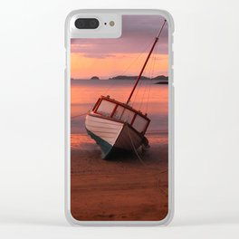 Beached yacht Clear iPhone Case