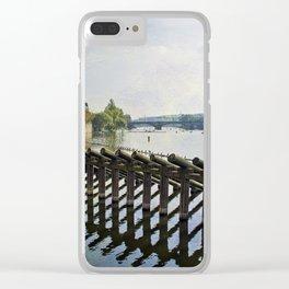 Vltava River Clear iPhone Case