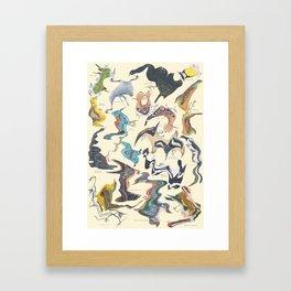 Skewed Birds Framed Art Print